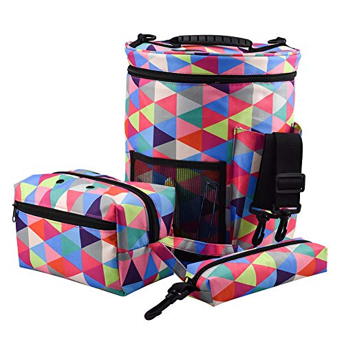 Katech Yarn Storage Bags Travel 3-Piece Knitting Bags Set Crochet Yarn Storage Empty Organizer Large Capacity Yarn…