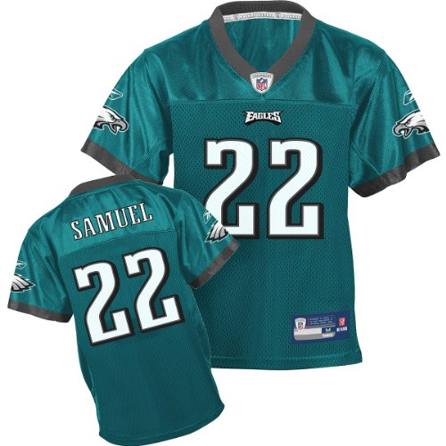 Reebok Philadelphia Eagles Asante Samuel Boys (4-7) Replica Jersey Kids 5-6 Medium