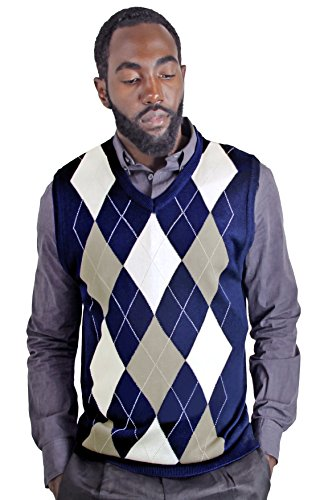 Blue Ocean Argyle Sweater Vest-X-Large
