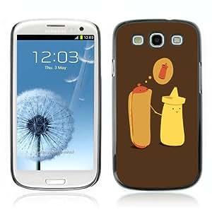 Designer Depo Hard Protection Case for Samsung Galaxy S3 / Hotdog & Mustard