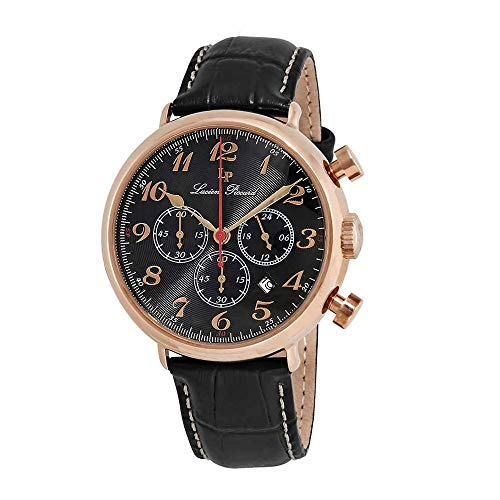 (Lucien Piccard Men's LP-72415-RG-01 Trieste Analog Display Quartz Black Watch )