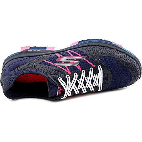 Skechers Performance Dames Gaan Flex Momentum Lace-up Wandelschoen Marine / Hot Pink