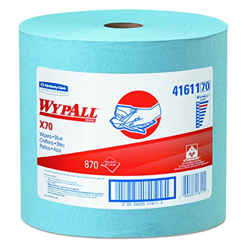 WypAll X70 Extended Use Reusable Wipers (41611), Jumbo Roll, Long Lasting Performance, Blue, 1 Roll, 870 Sheets from Kimberly-Clark Professional