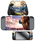 "Cheap Skin & Screen Protector The Legend of Zelda Breath of the Wild ""Link Hilltop View"" Joy-Con & Dock Set, Blue – Nintendo Switch"