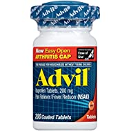 Advil Easy Open Cap (200 Count) Pain Reliever/Fever Reducer Coated Tablet, 200mg Ibuprofen, Temporary Pain Relief