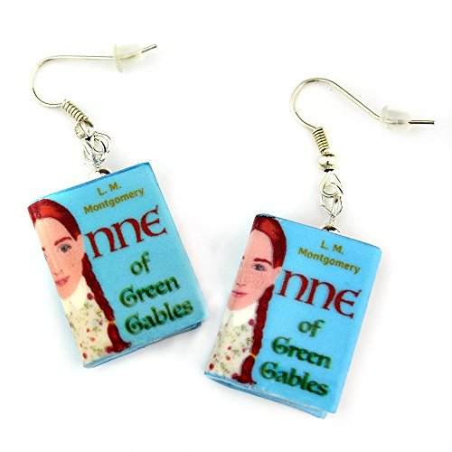 ANNE OF GREEN GABLES Lucy Maud Montgomery Polymer Clay Mini Book Earrings by Book Beads (Cheap Costume Ideas Halloween)