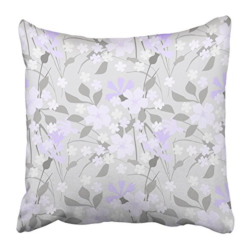 (Emvency Decorative Throw Pillow Covers Cases Flower Floral Pattern Cute Mille Fleurs Bloom Bouquet Branch Cornflower Country Delicate Ditsy 16x16 inches Pillowcases Case Cover Cushion Two)