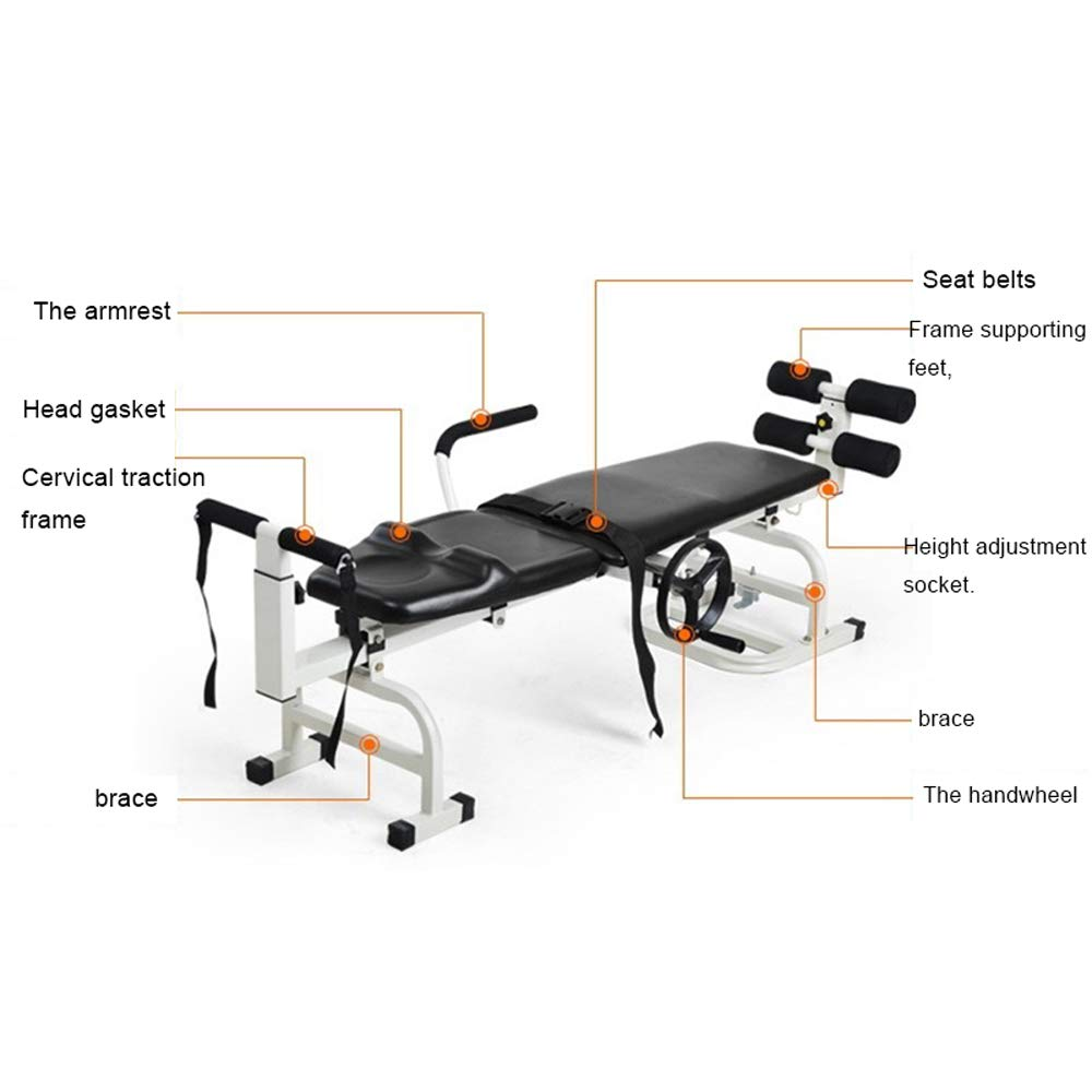 Hot Therapy Massage Bed Table Cervical, Denshine Lumbar Traction Bed Stretching Device for Facial SPA Bed/Therapy/Beauty Salon by Denshine (Image #2)