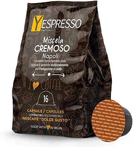 Yespresso compatibili Nescafe Dolce gusto Cremoso – 10 confezione da 16 capsule, 160 capsule