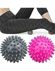 Komoyo Spiky Massage Ballen, Sport Massage Ballen Egel Ballen Massage Ballen Set voor Rug, Benen, Voeten & Handen Spiermassage, 2 Stuk