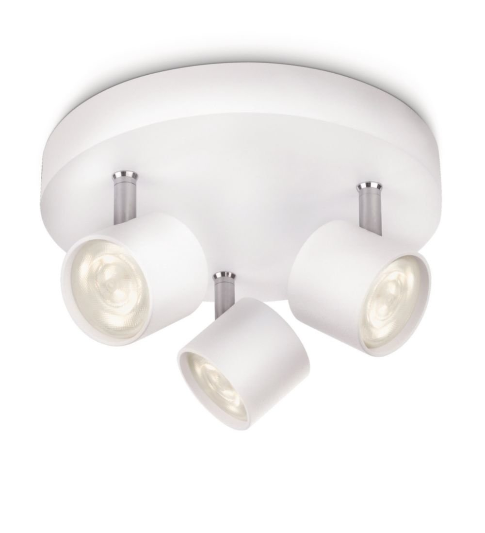 Philips myLiving LED Spotrondell Star 3-flammig, weiß