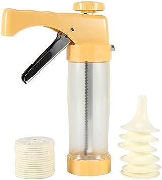 Pistola de tubería amarilla Prensa de galletas Cookie Presse Maker ...