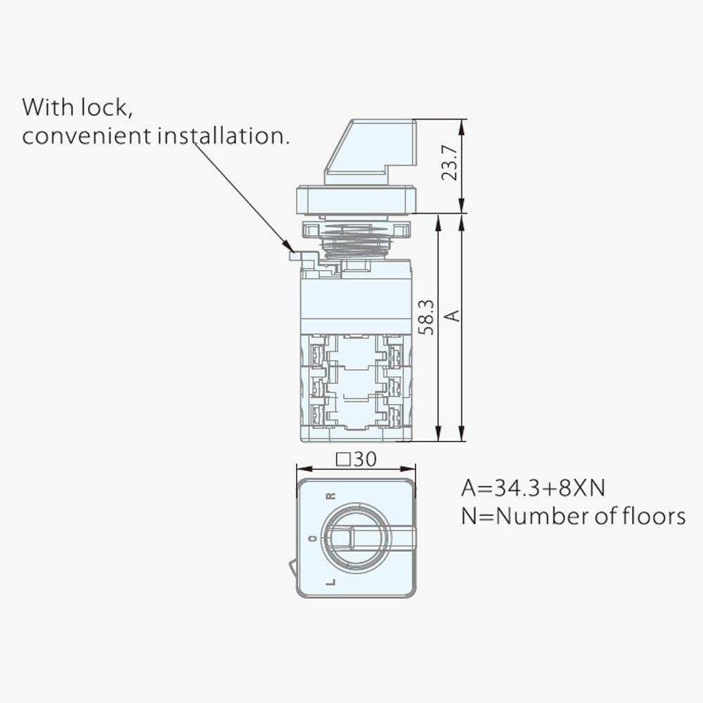 kedu zh-a rotary cam switches three ply change over switch for commercial  and industrial equipment electric machinery 125v/18a 250v/12a (zh-a):
