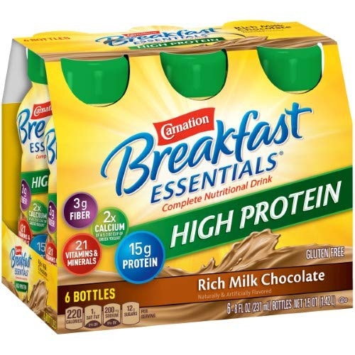 Carnation Breakfast Essentials High Protein Ready to Drink (Pack of 4) by Carnation