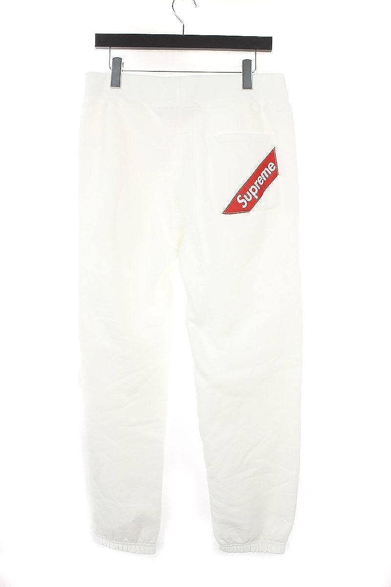 (シュプリーム) SUPREME 【18SS】【Corner Label Sweatpant】コーナーラベルロングパンツ(S/ホワイト) 中古 B07FVMY6VN