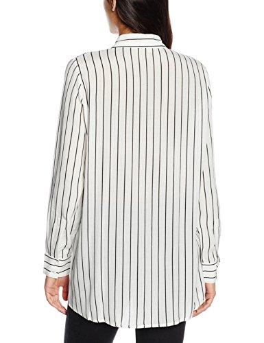 Blouse Blusa Weiß Mujer 113 Long Mx3020883 Sleeve Women Mexx White bright qpOwEO
