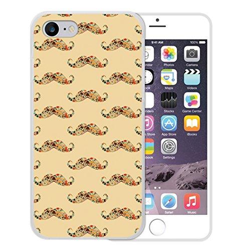 iPhone 8 Hülle, WoowCase Handyhülle Silikon für [ iPhone 8 ] Schnurrbart Hintergrund Handytasche Handy Cover Case Schutzhülle Flexible TPU - Transparent