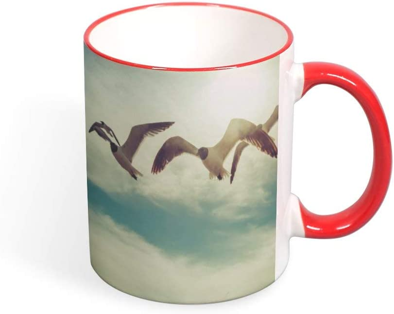 Nature Scenes Ceramic Mug Coffee Mug Funny Tea Cup Water Cup Novelty Gift Double-Sided Mug 9 Colors Are Available - 11oz