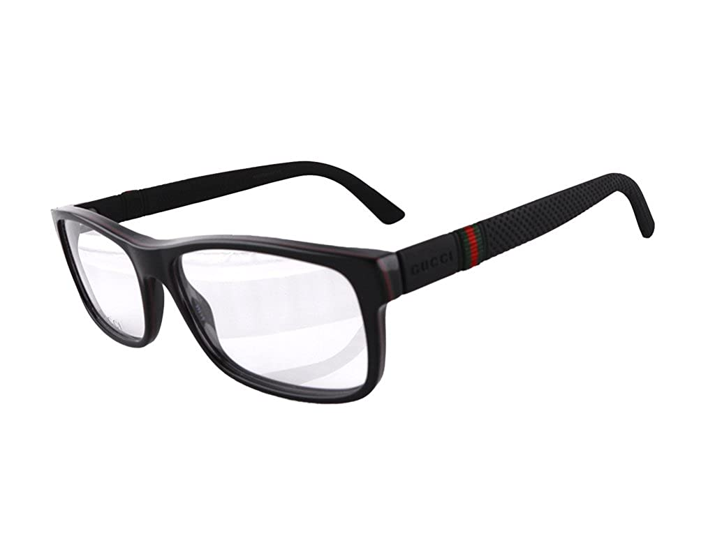 47ebb6465188a Gucci GG1066 Eyeglasses 56-16-145 Black Red Green 4UP GG 1066  Amazon.ca   Clothing   Accessories