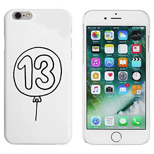 Blanc 'Ballon Numéro 13' étui / housse pour iPhone 6 & 6s (MC00045242)