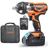 VonHaus 20V MAX Cordless 1/2'' Impact Wrench Set High Torque with Variable Speed - Includes 3Ah Lithium-ion Battery, Smart Charger, Belt Hook and Tool Bag