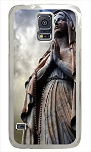 Samsung Galaxy S5 Case and Cover - Religious Statue Polycarbonate Hard Case Cover Compatible with Samsung Galaxy S5 White