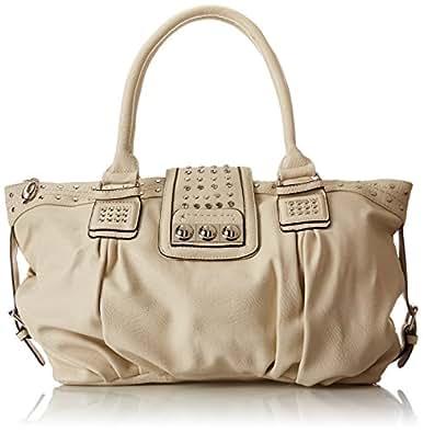 MG Collection Brenna Studded Large Shopper Hobo Shoulder Bag, Beige, One Size
