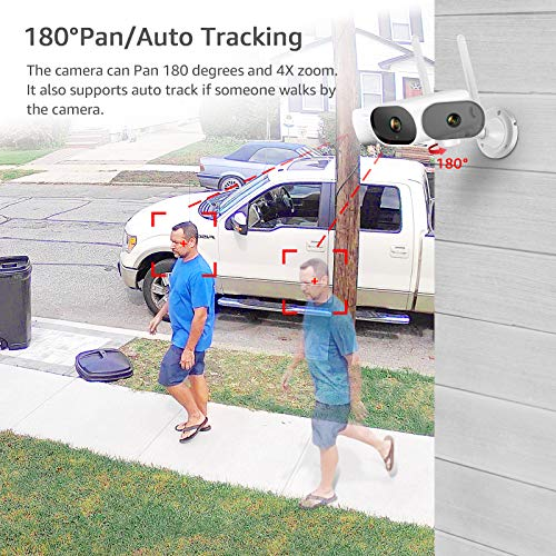 PTZ Outdoor Security Camera, ANRAN 1080P Full HD Home Wireless Wifi Camera for Home Surveillance Video System In/Ourdoor Camera with Two Way Audio,Night Vision,Motion Alert,Remote Access, 32GB SD card