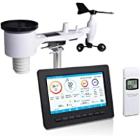 ECOWITT HP2551 WiFi Weather Station Large TFT Screen with Solar Powered 7-in-1 Outdoor Sensor, UV Light, Moon Phase, Sunrise/Sunset, Weather Forecast