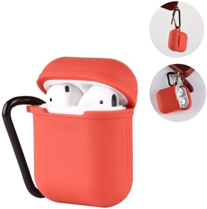 Aishanghuayi Headphone Cover Color : Pink Fashion Color: 5 Airpods case Bluetooth Headset Battery Cover Wireless Bluetooth Headset Lanyard