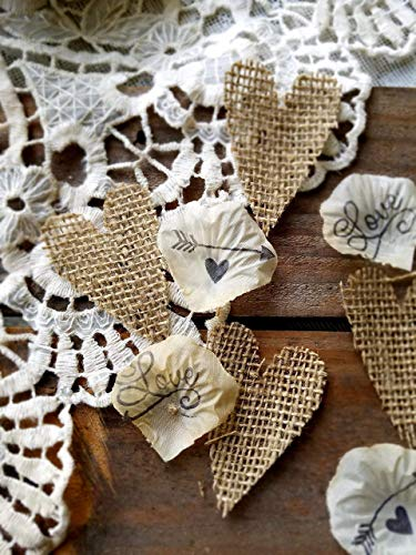 Rustic Wedding Decorations, Country Wedding Decor, Burlap Table Confetti, Rustic Bridal Shower Decorations, Petals for Wedding, Sweetheart Table