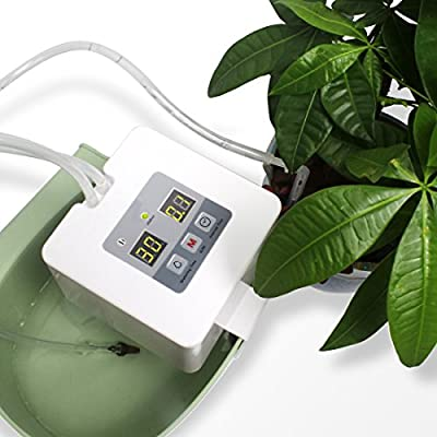 DIY Micro Automatic Drip Irrigation Kit,Self-Watering Drip System with Timer and USB Charging for Flower Bed, Patio, Garden or Potted Plants