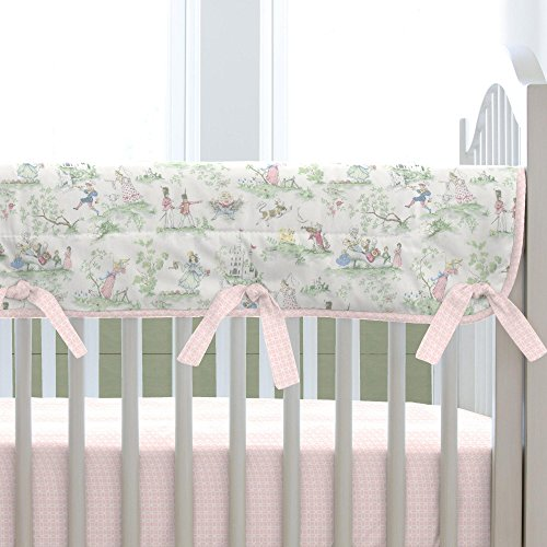Carousel Designs Pink Over The Moon Toile Crib Rail ()