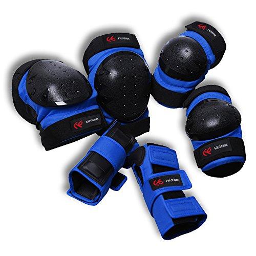 PHOENIX Erwachsene Inline Skates SchützerKomplettschutz Protektorenset Knieschoner Ellenbogenschützer Handgelenkschoner Schutzausrüstung