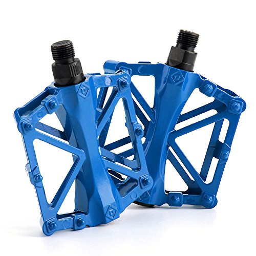 Alloy Bike (Chollima Aluminum Alloy Bicycle Pedals Road Bike Pedals for BMX MTB Cycling 9/16 Inch Blue)