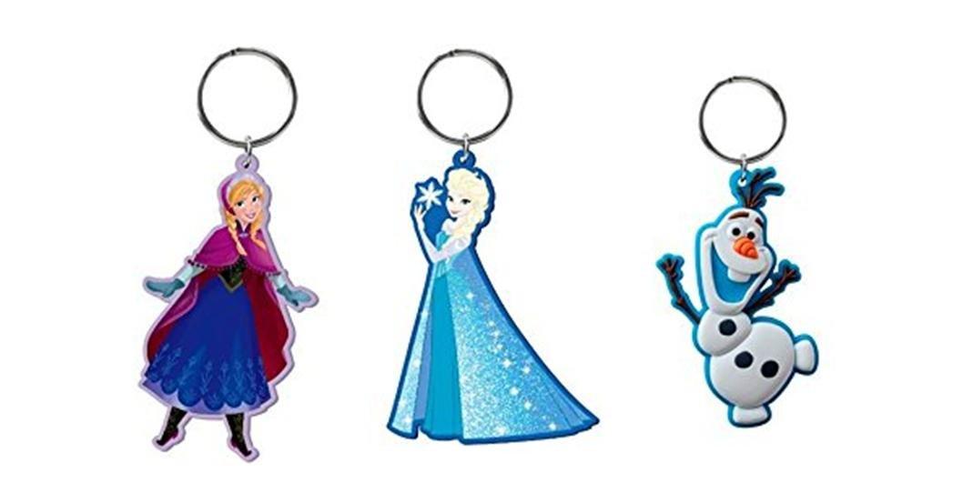Amazon.com: Disney Frozen Soft Touch Llavero X 3 (1 Elsa, 1 ...