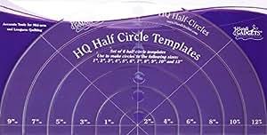 amazon com handi quilter half circle templates