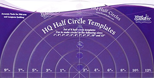 Handi Quilter Half-Circle Templates (Machine Long Quilting Hq Arm)