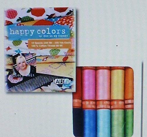 Aurifil Happy Colors Thread Assortment -10 Small Spools All Purpose by Aurifil
