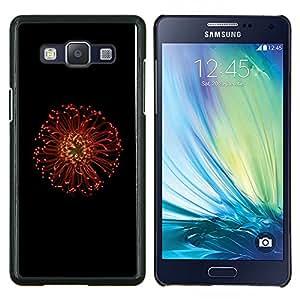 Stuss Case / Funda Carcasa protectora - Macro roja de la flor - Samsung Galaxy A5 A5000