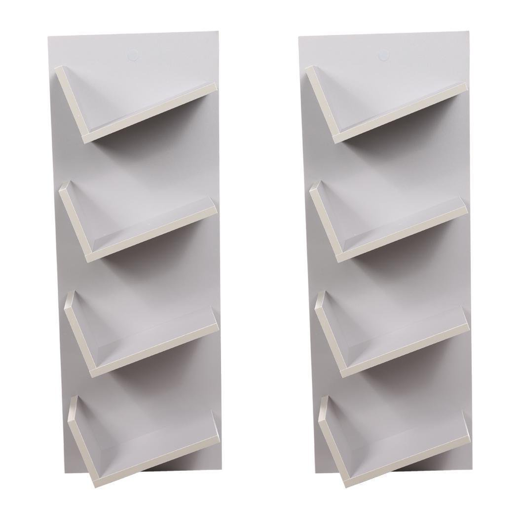 Bulges New Home CD DVD Rack Cabinets Tall Wood Bookcase Bookshelf Storage Shelf Shelves Gray by Bulges (Image #7)
