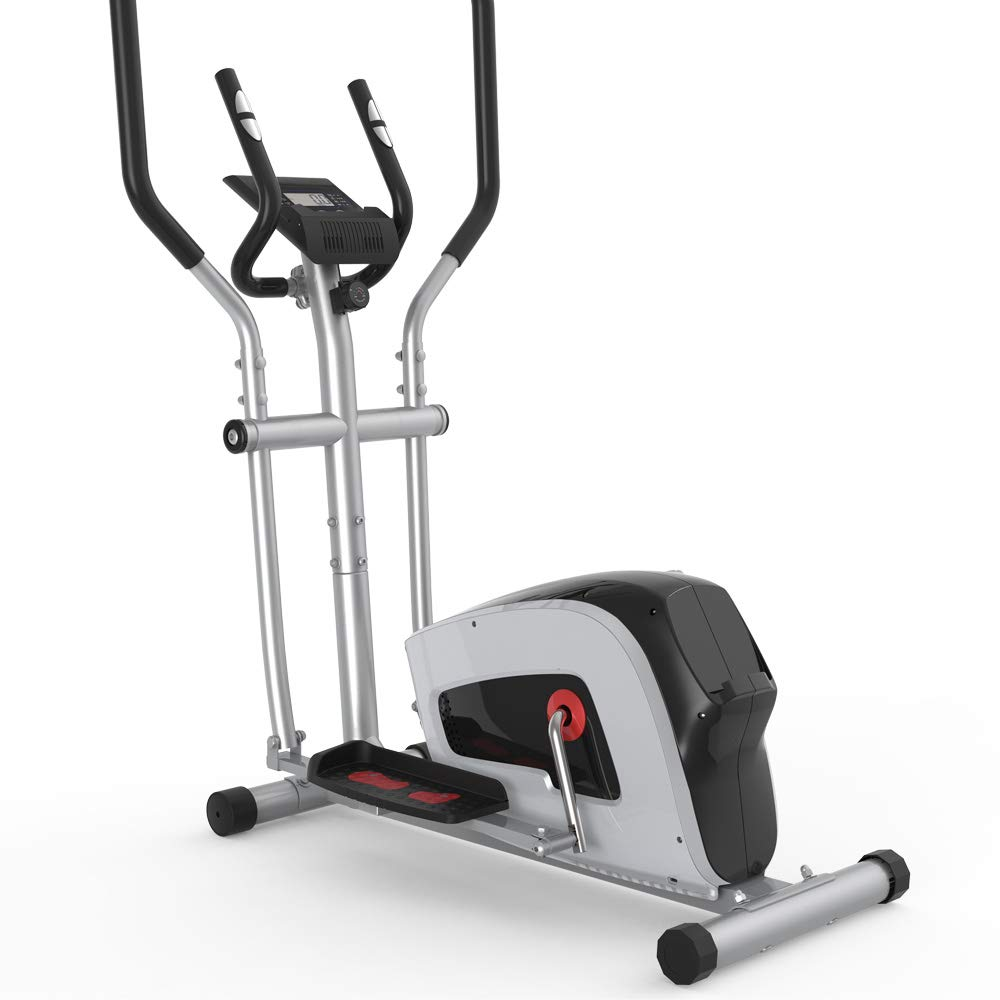 Home Elliptical Cross Machine Smooth Quiet Drive with LCD Monitor and Tension Control