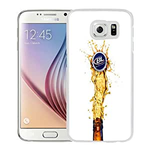 Beautiful Unique Designed Cover Case For Samsung Galaxy S6 With Bud Light White Phone Case
