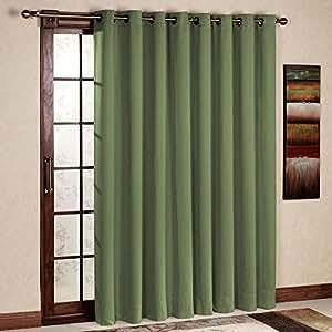 Rhf Wide Thermal Blackout Patio Door Curtain Panel Sliding Door Curtains Antique
