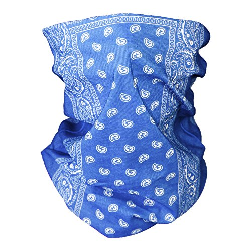 Upparel Automotive Gear Balaclavas Seamless Face Mask Bandanas (One Size, Light Blue)