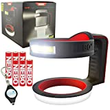 NEBO Glow Tumbler Holder 30oz or 20oz Handle Light Cup Holder Flashlight - 6668 Bundle with 6 AAA & a Lumintrail Keychain Light