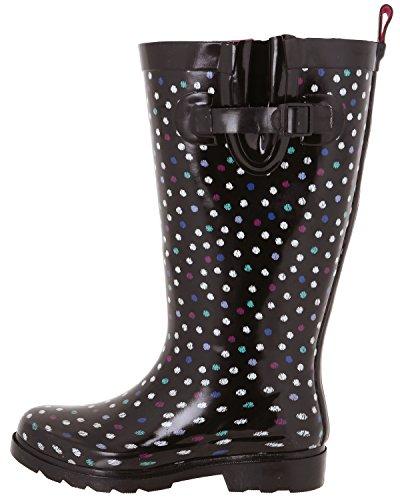Capelli New York Damer Glänsande Tall Rain Svart Multi Dot