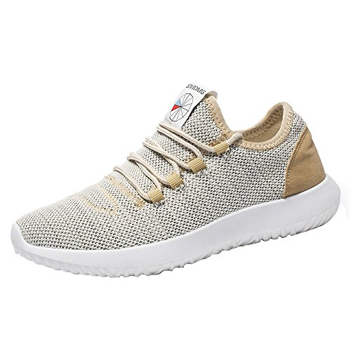 Casual Zapatos Transpirable Caqui Shoes Running De Redonda Plana ALIKEEYHombres Zapatillas Malla wBd0x8qOq