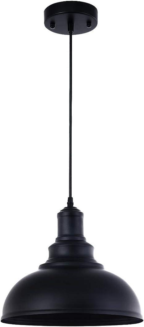Pendant Lighting Metal Industrial Vintage Hanging Ceiling Black For Kitchen Home Lighting Amazon Com