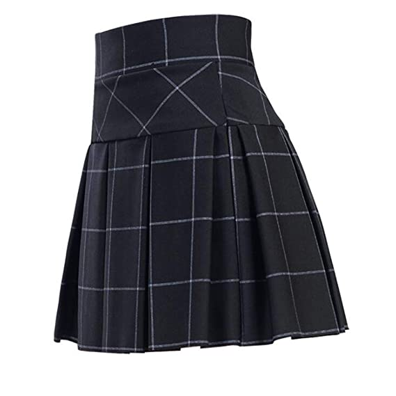 YXYP Falda Mujer Plisada Falda con Leggings Mini Corto Falda ...